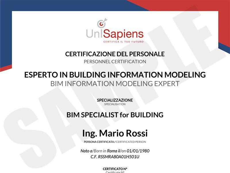 CERTIFICATO-BIM-SPECIALIST-for-BUILDING